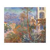 Villas at Bordighera Art par Claude Monet