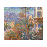 Villas at Bordighera Giclee Print by Claude Monet