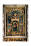 Polyptych with Madonna and Child Enthroned,   Bernardino Ferrari, c.16th, Cathedral, Pavia, Italy Print by Bernardino Ferrari