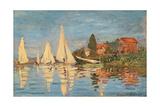Regatta at Argenteuil, Monet Claude, 1872. Musee d'Orsay, Paris, France. Posters av Claude Monet