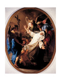 Ecstasy of St. Catherine of Siena Print by Pompeo Batoni