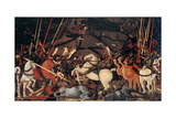 Rout of St. Roman (Battle of St Roman),by Paolo Uccello, c. 1436-1439 . Uffizi Gallery, Florence Prints by Paolo Uccello