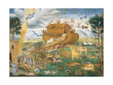 Animals Enter Noah's Ark Giclee Print by Aurelio Luini