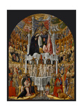 Coronation of the Virgin, by Antonio Vivarini, 1444. San Pantaleone Church, Venice, Italy Giclée-Druck von Antonio Vivarini