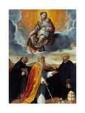 Madonna with Child and St Dominic (Madonna of the Rosary) Poster by Bartolomeo Cesi