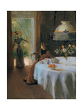 Interior, Muller Alfredo, 1890. Private Collection, Italy. Poster by Alfredo Muller