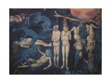 Last Judgment, Detail, Torment Prints by  Giotto di Bondone