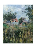 Cutting of the Hedge Giclee Print by Camille Pissarro