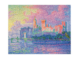 Papal Palace at Avignon Affischer av Paul Signac