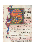 Choral part of the Mass, illuminated manuscript, 15th c. Osservanza Basilica, Siena, Italy Prints