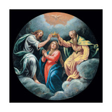 Mysteries of the Rosary, Mary and Holy Ghost Giclee Print by Vincenzo Campi