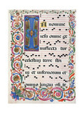 Choral part of the Mass, illuminated manuscript, 15th c. Osservanza Basilica, Siena, Italy Print