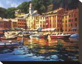 Colori di Portofino Stampa su tela di Michael O'Toole