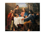 Supper at Emmaus Giclee Print by Enrico Bandini