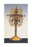 Byzantine Work, Benedictory cross, 16th. Basilica of San Francesco, Assisi, Italy Posters