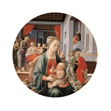 Virgin with the Child and Scenes from the Life of St. Anne Art by Filippo Lippi