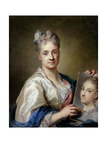 Self-Portrait, by Rosalba Carriera, 1715. Uffizi Gallery, Florence, Italy Giclée-tryk af Rosalba Carriera