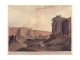Delhi, Gate of Fort Shere Shah, 19th c. aquatint etching. Braidense National Library, Milan, Italy Prints