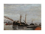 Barges on the Seine at Bercy Giclee Print by Jean-Baptiste-Armand Guillaumin