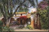 Capistrano Sunlight Stretched Canvas Print by George W. Bates