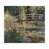Water Lily Pond, 1900 Poster af Claude Monet