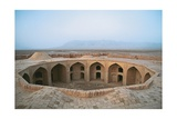 Robat e Zeid ad Din Han, Caravansary, 18th c. Iran, Yazd. Prints