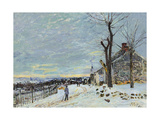 Snow at Veneux Nadon Prints by Alfred Sisley