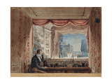 At the Theater with Self-portrait, Massimo D'Azeglio, 1817 - 1818. National Gallery, Rome, Italy Prints by Massimo D'Azeglio