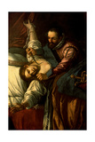 Miracle of the Madonna of the Rosary (The Jealous Husband) Print by Pietro Damini