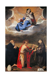 Madonna and Child with Sts. Benedict, John the Baptist and Francis Prints by Bartolomeo Cesi