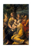 Madonna with Child and Sts. Augustine, Jerome, Margaret and Angel Affischer av Parmigianino,