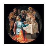 Mysteries of the Rosary, Christ's Presentation in the Temple Giclee Print by Vincenzo Campi
