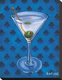 Martini Royale - Clubs Stretched Canvas Print by Will Rafuse