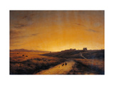Dawn Seen from the Countryside outside Rome Giclee Print by Giuseppe Canella