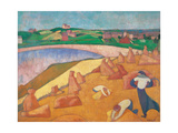Harvest by the Sea Posters by Emile Bernard