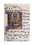 Choral response for religious services, illuminated manuscript, 14th c. Osservanza Basilica, Siena Art
