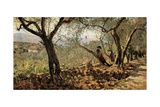 Among the Olive Trees Print by Telemaco Signorini