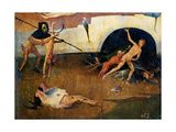 Tryptych of Hay, The Construction Hell Giclee Print by Hieronymus Bosch