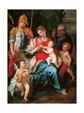 Madonna & Child, Sts. Michael the Archangel, Joseph, & John Prints by Girolamo Siciolante