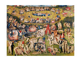 Garden of Earthly Delights,(Martyrs & Angels) by Hieronymus Bosch, c. 1503-04. Prado, Madrid. Poster von Hieronymus Bosch