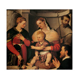 Madonna & Child, Sts. Catherine, Francis and the Donor Giclee Print by Giovanni Battista Moroni