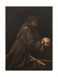 St. Francis in Meditation Posters af Caravaggio