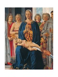 Montefeltro Altarpiece, Piero della Francesca, 1472-74. Brera Gallery, Milan, Italy Detail. Poster by  Piero della Francesca