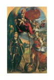 Madonna in Glory with Child, Angels & Sts George and Michael Archangel Posters af Dosso Dossi