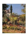 Garden at Sainte Adresse Kunstdrucke von Claude Monet