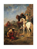 Falcon Hunting in Algeria Posters by Eugene Fromentin