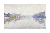 Riverbank, the Seine at Herblay Prints by Paul Signac