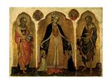 Triptych of the Madonna della Misericordia, Jacobello del Fiore, 1415-1420. Accademia, Venice Posters by Jacobello del Fiore del Fiore
