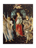 Primavera, center section Prints by Sandro Botticelli