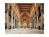 Santa Maria Nuova Cathedral, Interior of nave, 1172-1183. Palermo, Italy Prints